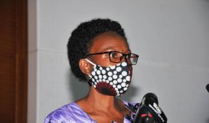 Health Minister Dr Jane Ruth Aceng