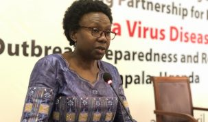 Health Minister Jane Ruth Aceng