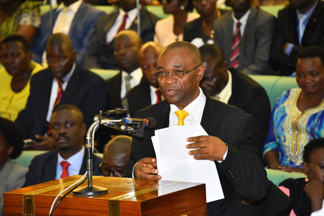 Magyezi moved motion for new districts. PHOTO BY UGANDA PARLIAMENT