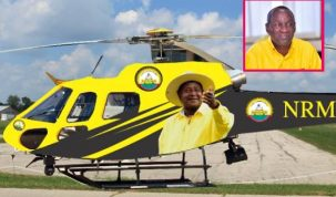 The new chopper is an Airbus AS350-B2 which Mukula has offered to Museveni
