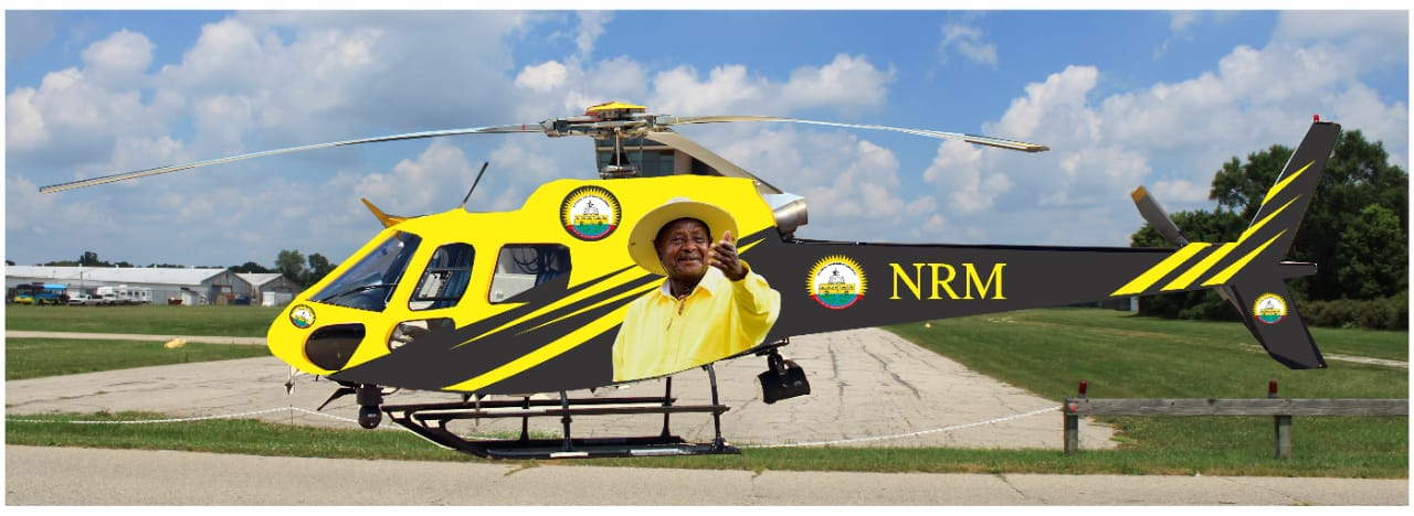 """The new chopper is an Airbus AS350-B2 with aircraft serial number-7295, Reg no. 5YSGM. The chopper dubbed """"The Freedom Fighter"""" is currently being branded in Nairobi, Kenya"""
