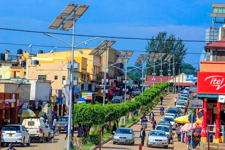 A view at one of the streets at Fort Portal City