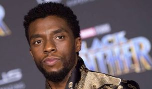 Actor Chadwick Boseman attends the world premiere of Marvel Studios' Black Panther in Hollywood on January 29, 2018