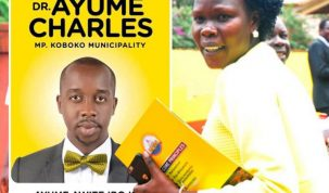 Minister Anite and Opponent Charles Ayume Photo Inset
